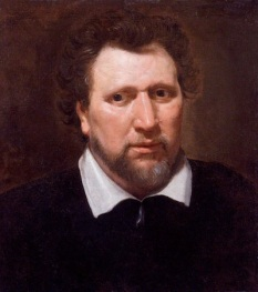 Ben Jonson (c. 1617), by Abraham Blyenberch; oil on canvas painting at the National Portrait Gallery, London