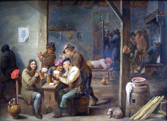 Tavern Scene by Flemish artist David Teniers c. 1658
