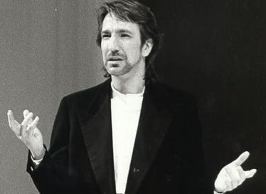 "Alan Rickman as Jacques in the Royal Shakespeare Company's ""As You Like It"" in 1985. Via americantheatre.org"