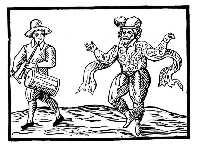 William Kempe (right) from Nine Days Wonder (1600)
